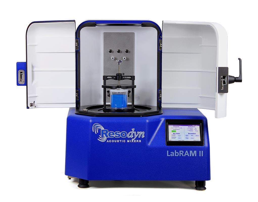 Resodyn LabRAM II Acoustic Mixer - Doors Open