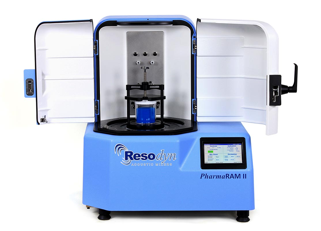 Resodyn PharmaRAM II Acoustic Mixer - Doors Open